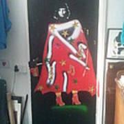 Urban Gorrilla Gay Guevara With Gun And Holster Art Print