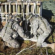U.s. Army Europe Soldiers Perform Art Print