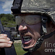 U.s. Army Sergeant Testing Art Print