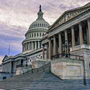Us Capitol Building And Senate Chamber Art Print
