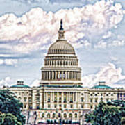 Us Capitol Building Art Print