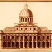 U.s. Capitol Design 1791 Art Print