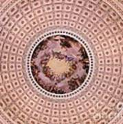U S Capitol Dome Mural # 2 Art Print