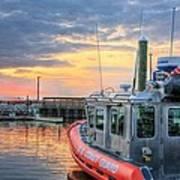 Us Coast Guard Defender Class Boat Art Print