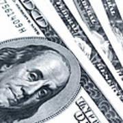 Us Dollar Bills  Art Print