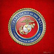 U. S. Marine Corps - U S M C Seal  Art Print