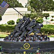 Us Marine Corps War Memorial Art Print by Ricky Barnard