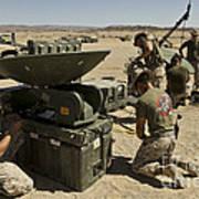 U.s. Marines Assemble A Support Wide Art Print