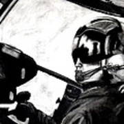 U.s. Marines Helicopter Pilot Art Print