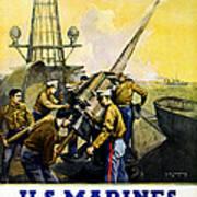 Us Marines Art Print