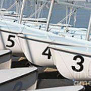 Us Navy Training Sailboats I Art Print