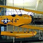 U.s. Navy Yellow Peril Float Biplane Art Print