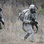 U.s. Soldiers Don Chemical Warfare Gear Art Print