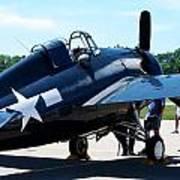 Us Ww II Fighter Plane Art Print