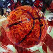 Usa Flag And Basketball Abstract Art Print