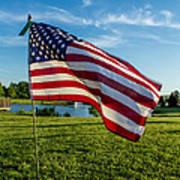 Usa Flag Art Print by Phyllis Bradd
