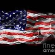 Usa Flag Smoke  Art Print