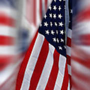 Usa Flags 03 Art Print