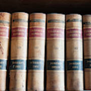 Usa, Nevada Old Law Books In Library Art Print