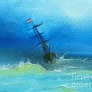 Usa Through The Storm Art Print