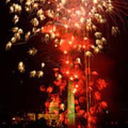 Usa, Washington Dc, Fireworks Art Print