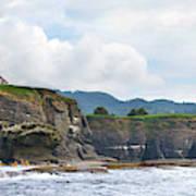 Usa Washington State Sea Kayakers Art Print