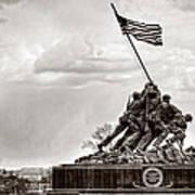Usmc War Memorial And National Mall Art Print