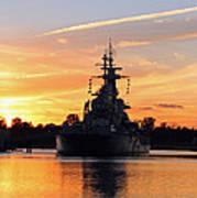 Uss Battleship Art Print