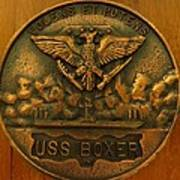 Uss Boxer Plaque Art Print