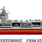 Uss Enterprise Cvn 65 1969 Art Print