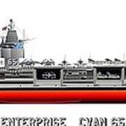 Uss Enterprise Cvn 65 1969 Print by George Bieda