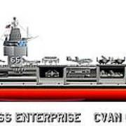 Uss Enterprise Cvn 65 1971-73 Art Print