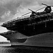 Uss Midway Helicopter Art Print