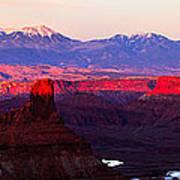 Utah Desert Sunset Panorama Art Print
