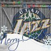 Utah Jazz Art Print by Joe Hamilton
