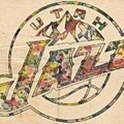 Utah Jazz Poster Art Art Print by Florian Rodarte