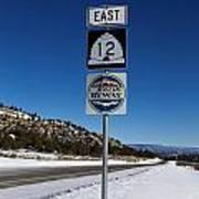 Utah Scenic Highway 12 In Snow Art Print