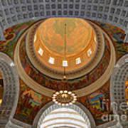 Utah State Capitol Rotunda Interior Archways Art Print by Gary Whitton