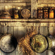 Utensils - Old Country Kitchen Art Print by Mike Savad