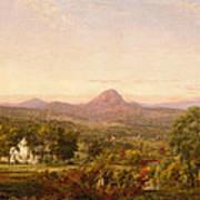 Autumn Landscape Sugar Loaf Mountain. Orange County  New York Art Print