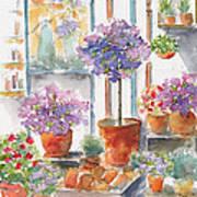 Uzes Market Art Print