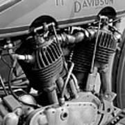 V-twin Engine Art Print