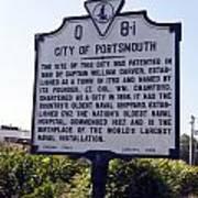 Va-q8i City Of Portsmouth Art Print