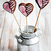 Valentine Cookie Pops Art Print