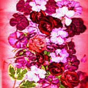 Valentine Flowers For You Art Print