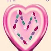Valentine Gem Art Print
