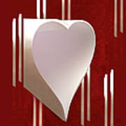 Valentine Paper Heart Art Print