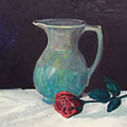 Valentine Rose Art Print by Peter Edward Green