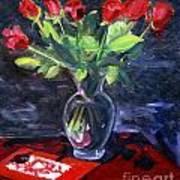 Valentine Roses Art Print