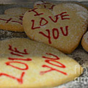 Valentine Wishes And Cookies Art Print